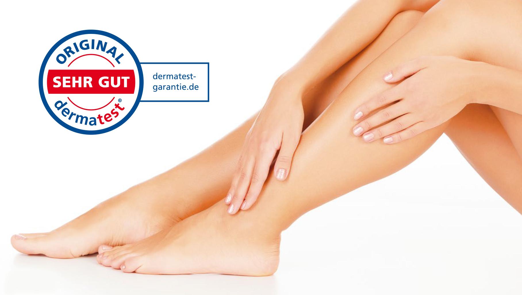 Prüfsiegel Dermatest - Geprüfte Hautverträglichkeit sehr gut
