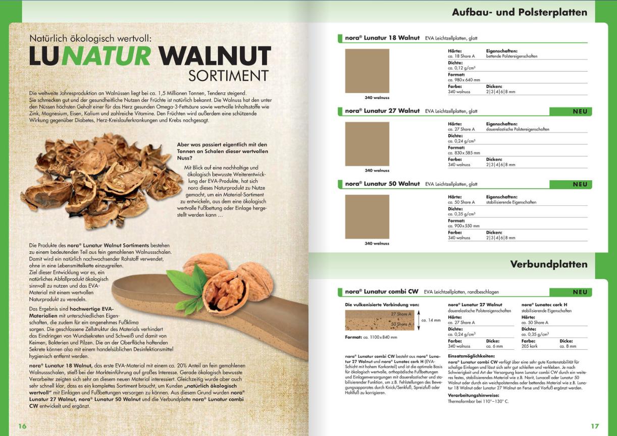 Katalogseite Lunatur Walnut